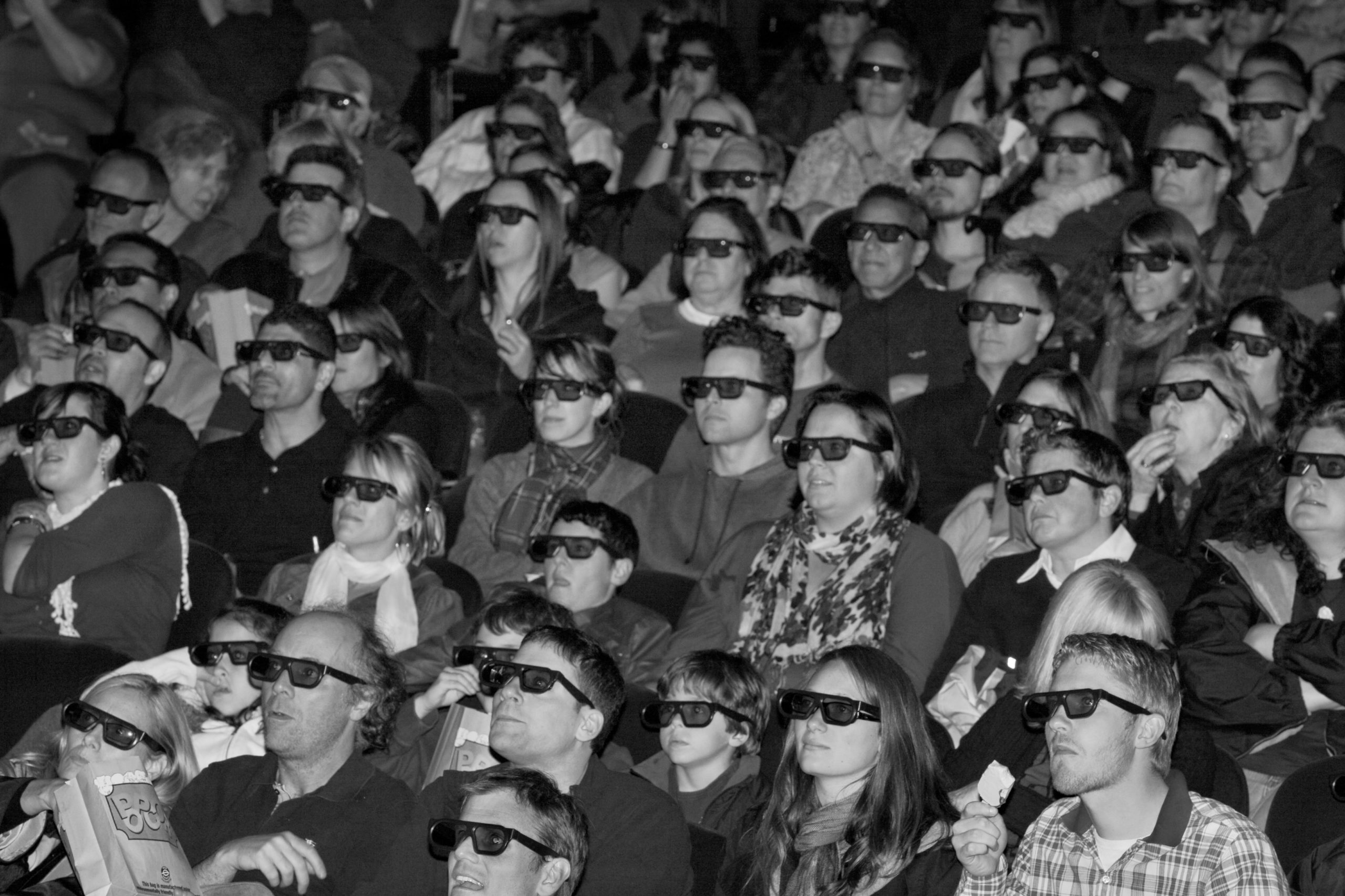 Castro Theatre audience watching Alice In Wonderland in 3D, March 12, 2010